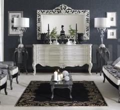 Настенное зеркало carving DECO' Bianco+ARGENTO 2106//W фабрика Morello Gianpaolo