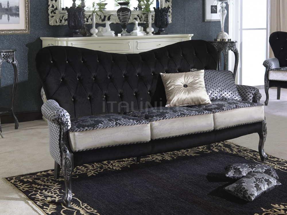 Трехместный диван CLARETTA with Swarovky 1878/W Morello Gianpaolo