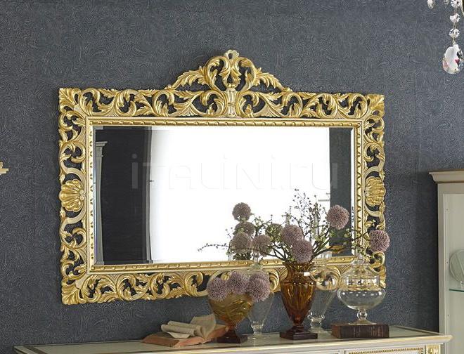 Настенное зеркало carving DECO' Bianco+ORO 2106//W Morello Gianpaolo