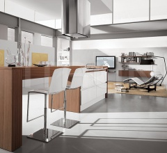 Кухня Contempora Noce Canaletto фабрика Aster Cucine
