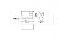 Письменный стол SIDUS SMSC11 B&B Italia