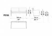 Двухместный диван POSA PO155 B&B Italia