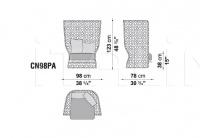 Кресло CANASTA CN98PA B&B Italia
