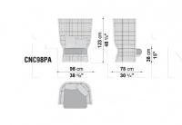 Кресло CANASTA CNC98PA/CNC98PB B&B Italia