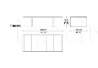 Стол обеденный CANASTA TCNC224/TCNC283 B&B Italia