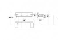 Трехместный диван DIESIS D277B_P B&B Italia