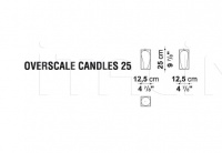 Ваза OVERSCALE CANDLES B&B Italia