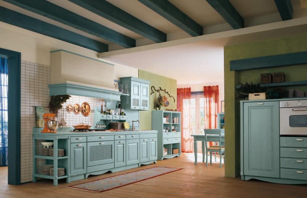 Кухня Blu pastello Antares Cucine