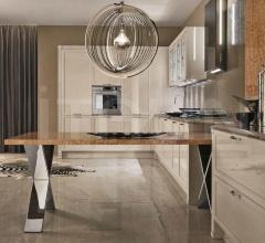 Итальянские угловые кухни - Кухня Telaio Cornice Cuspide фабрика Aster Cucine