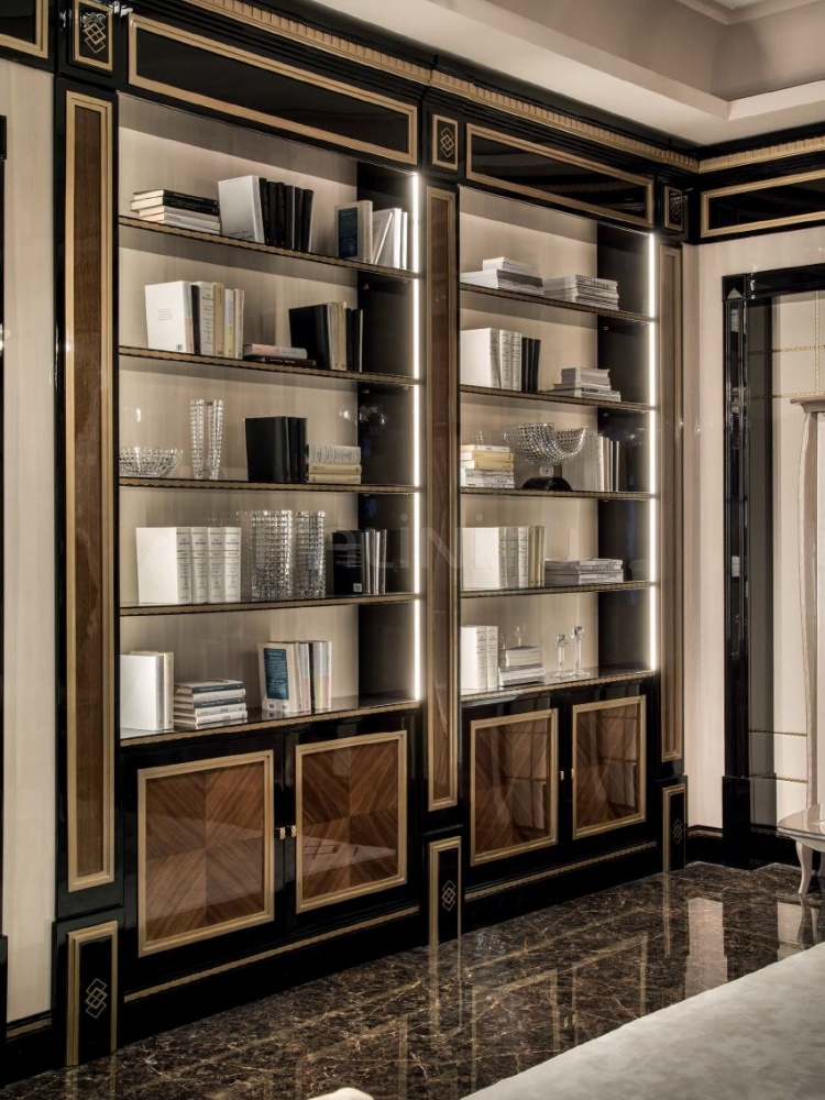 Книжный стеллаж-панель Boiserie Pregno