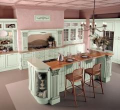 Кухня Solaria laccato verde flow фабрика Tomassi Cucine