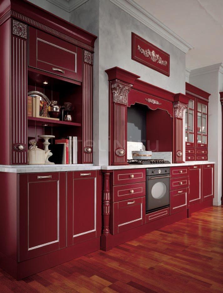 Кухня Solaria laccato rossa Tomassi Cucine