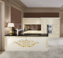 Кухня Alessia laccato crema фабрика Tomassi Cucine (закрыта)