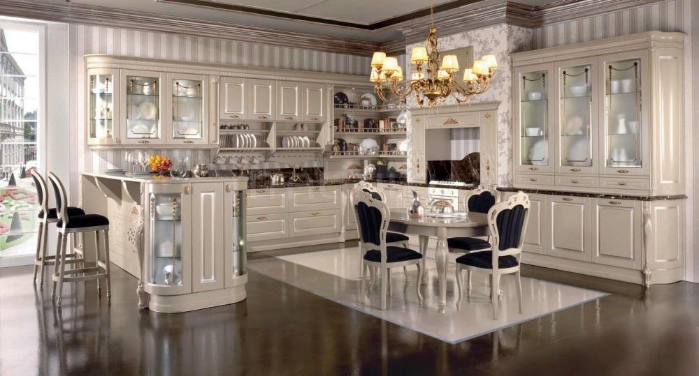 Кухня Artemide laccata ostrica Tomassi Cucine