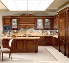 Кухня Artemide noce gubbio фабрика Tomassi Cucine