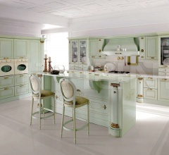 Кухня Belle epoque verde flow фабрика Tomassi Cucine (закрыта)