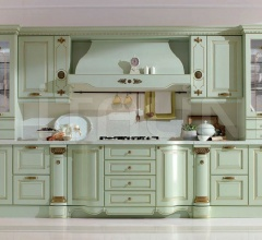 Кухня Belle epoque verde flow фабрика Tomassi Cucine