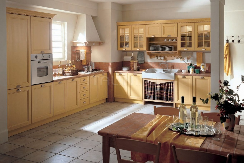 Кухня Primavera giallo mais Tomassi Cucine