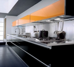 Кухня Andromeda nero фабрика Tomassi Cucine