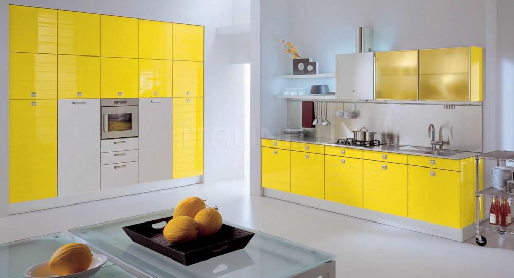 Кухня Modula giallo Tomassi Cucine