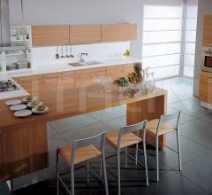 Кухня Alluminia teak maldive фабрика Tomassi Cucine