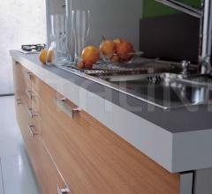 Кухня Alluminia opaco teak maldive фабрика Tomassi Cucine