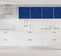 Кухня Jolly Satinato crilex colore blu фабрика Tomassi Cucine