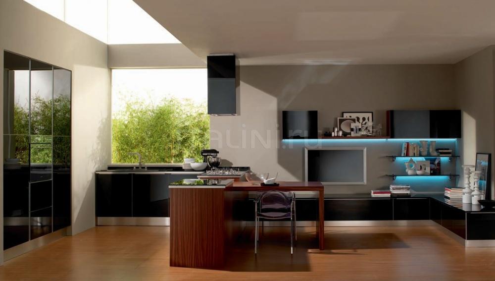 Кухня Pratica nera Tomassi Cucine