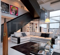 Модульный диван T150+T154+T155 RT08S фабрика Turri
