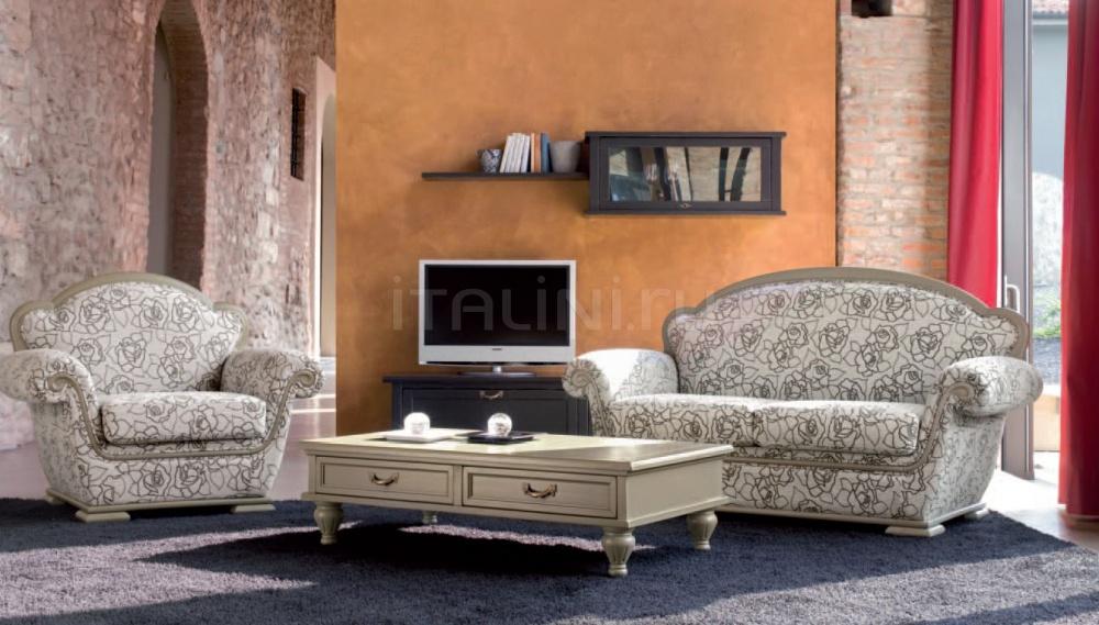 Двухместный диван 1558 L7410 TF100 Tonin Casa