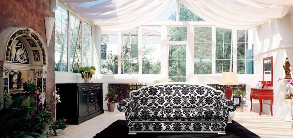 Трехместный диван 1567 L0102 TS03 Tonin Casa