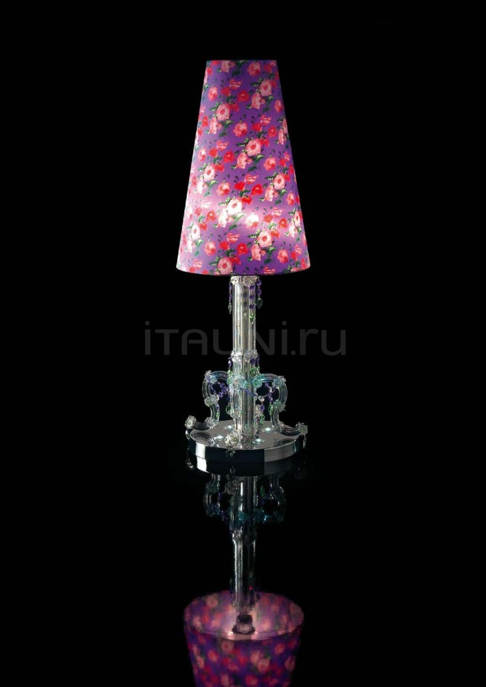 Настольная лампа 0130L01 Violet Flowers Beby Group