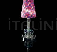 Итальянские настольные светильники - Настольная лампа 0130L01 Violet Flowers фабрика Beby Group