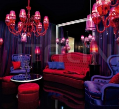 Трехместный диван 0124V01 Red фабрика Beby Group