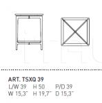 Столик SAX TSXQ 39 Alivar