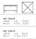 Журнальный столик SAX TSXQ 59/TSXQ 79 Alivar