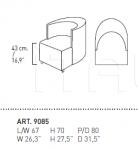 Кресло INTERNOS 9085 Alivar