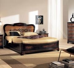 Кровать 810 Moka/Noce Biondo фабрика FM Bottega D'Arte