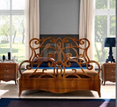 Кровать 824 Noce Biondo фабрика FM Bottega D'Arte