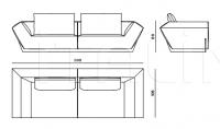 Трехместный диван Atlantic ATL.211.A Roberto Cavalli