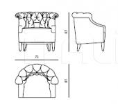 Кресло Lady E rc glenn Roberto Cavalli