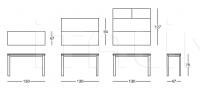 Консоль-стол 012 Outline glass Longhi