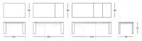 Раздвижной стол 040 Step glass Longhi
