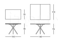Стол обеденный 111 Cross Longhi