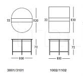 Консоль-стол 256 Shelf Longhi