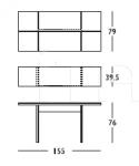 Консоль-стол 268 Wood Longhi