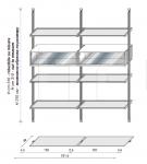 Книжный стеллаж 400 Vertical Longhi