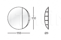 Настенное зеркало 303 Globe Longhi