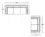 Модульный диван W545 Nobu Longhi
