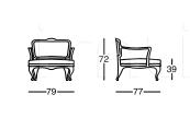 Кресло X615 Dalia Longhi